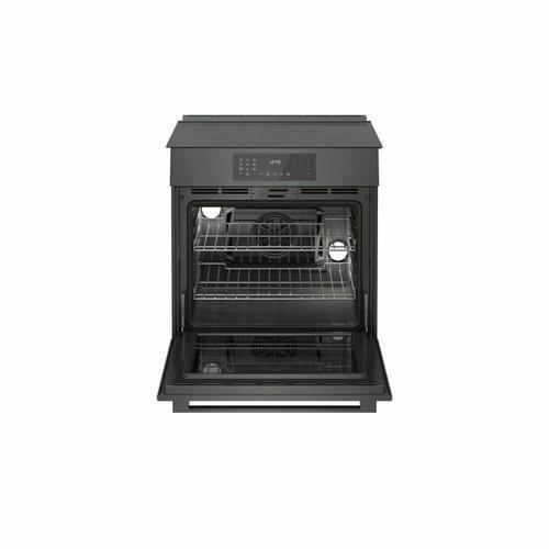 Gallery - 800 Series Induction Slide-in Range 30'' Black Stainless Steel HII8046U