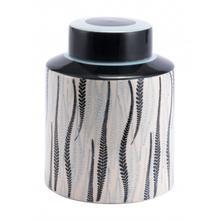 Large Espiga Jar White & Black