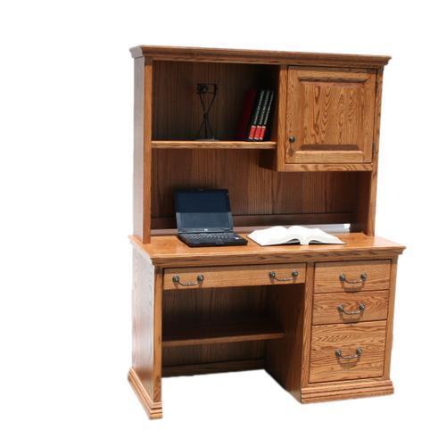 """A-T642 Traditional Alder 50"""" 3-Drawer Student Computer Desk"""