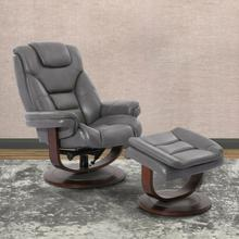See Details - MONARCH - ICE Manual Reclining Swivel Chair and Ottoman