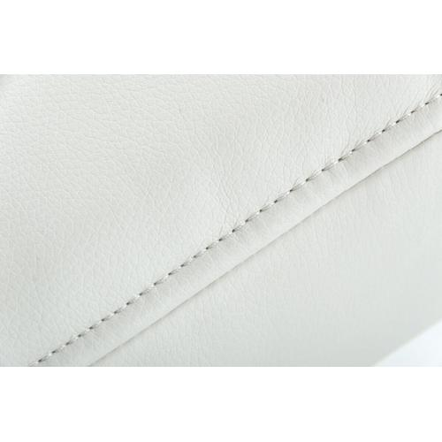 VIG Furniture - Modrest Xane - Contemporary White & Brushed Stainless Steel Bench