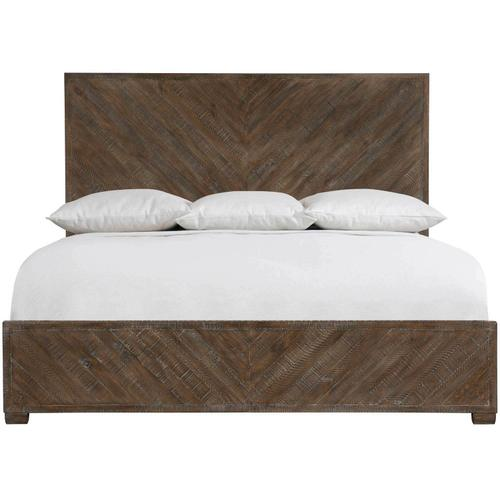 California King Fuller Panel Bed in Sable Brown