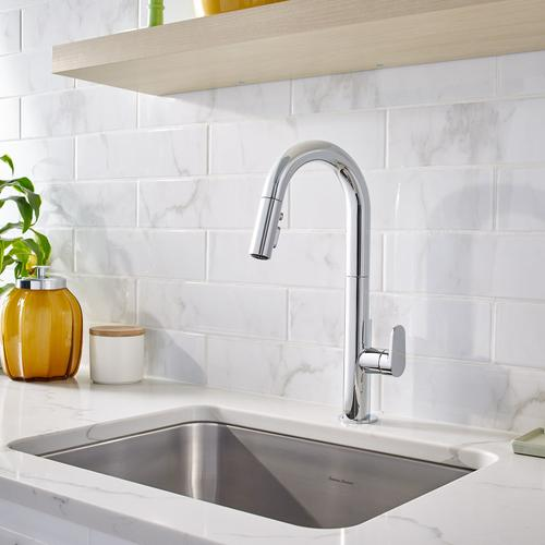 4931300002 In Polished Chrome By American Standard In Englewood Co Beale Pull Down Kitchen Faucet Polished Chrome