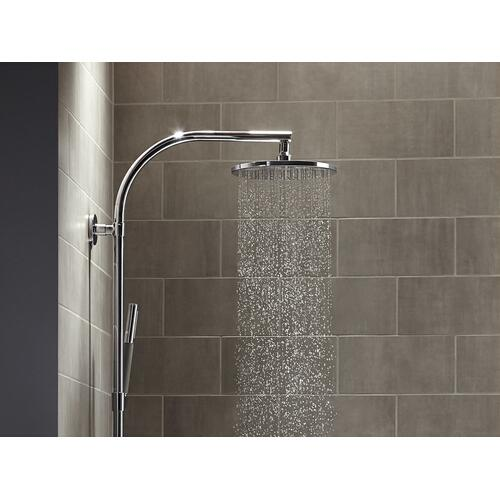 """Vibrant Polished Nickel 10"""" Rainhead With Katalyst Air-induction Technology, 2.5 Gpm"""