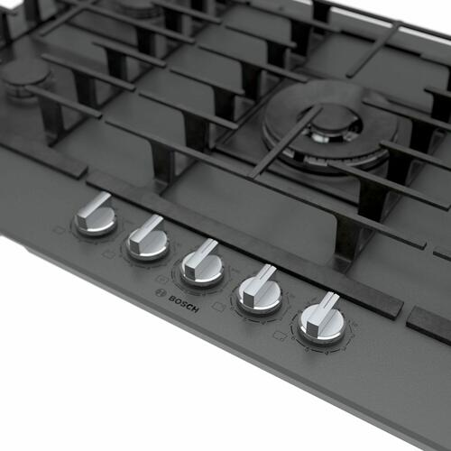 Benchmark® Gas Cooktop 36'' Hard Glass, dark silver NGMP677UC