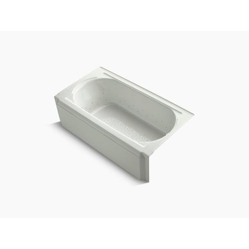 """Dune 60"""" X 34"""" Alcove Bubblemassage Air Bath With Polished Chrome Airjet Color Finish and Right-hand Drain"""