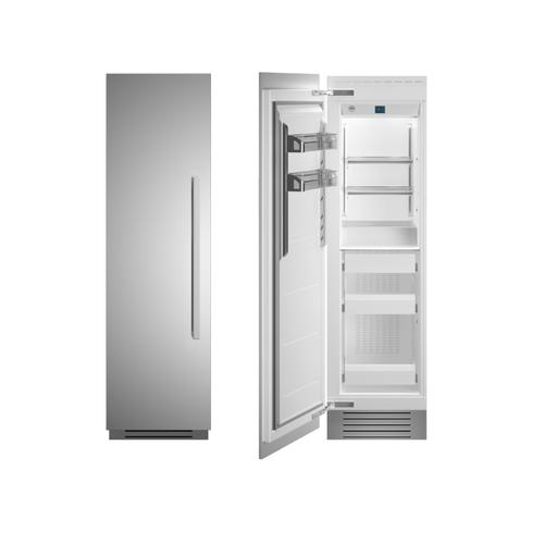 "24"" Built-in Freezer column - Stainless - Left hinge"