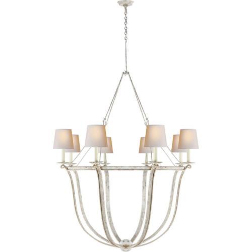 Visual Comfort - E. F. Chapman Lancaster 8 Light 42 inch Old White Chandelier Ceiling Light