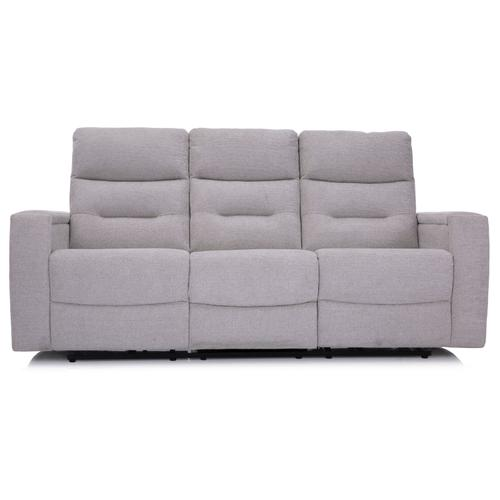Ivory Power Reclining Sofa with Drop-down Table