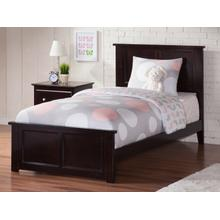 Madison Twin Bed with Matching Foot Board in Espresso