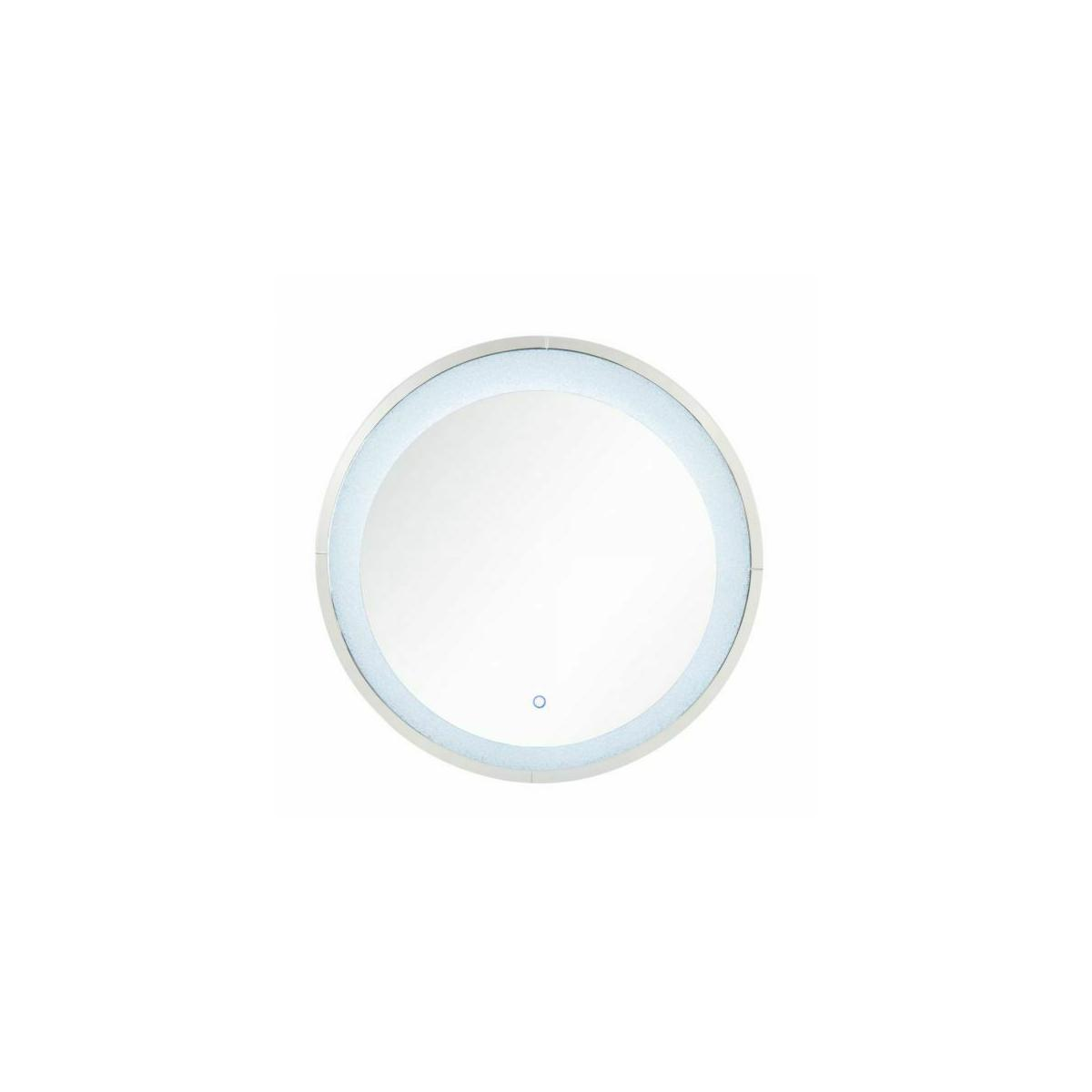 ACME Noralie Wall Decor (LED) - 97709 - Glam - LED Light, Mirror, Glass, MDF, Faux Diamonds (Acrylic) - Mirrored and Faux Diamonds