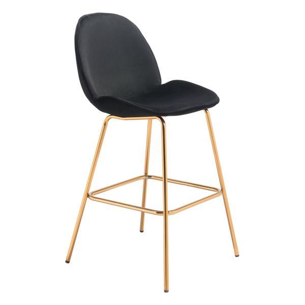 See Details - Siena Bar Chair Black & Gold
