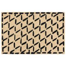 Doormat Brushstroke Diamonds Black 24x36