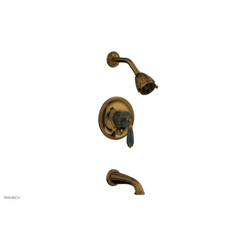 VALENCIA Pressure Balance Tub and Shower Set PB2338F - French Brass