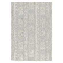 "Finesse-Mali Cloth SIlver - Rectangle - 3'11"" x 5'6"""