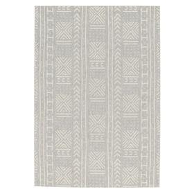 """Finesse-Mali Cloth SIlver - Rectangle - 3'11"""" x 5'6"""""""