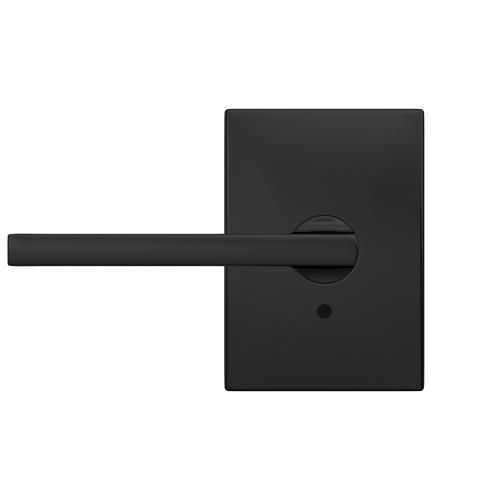 Custom Latitude Non-Turning Lever with Century Trim - Matte Black