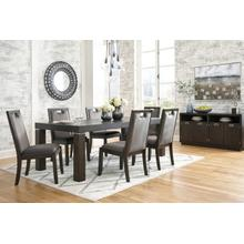 7pc RECT Dining Room EXT Table Set