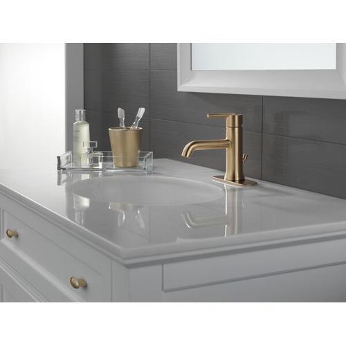Champagne Bronze Single Handle Bathroom Faucet