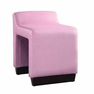 ACME Alford Ottoman - 59892 - Contemporary - Flannel, Frame: Wood (Hardwood, Poplar, Ply), Foam (28D) - Pink Flannel