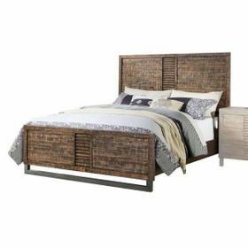 ACME Andria Eastern King Bed - 21287EK - Reclaimed Oak