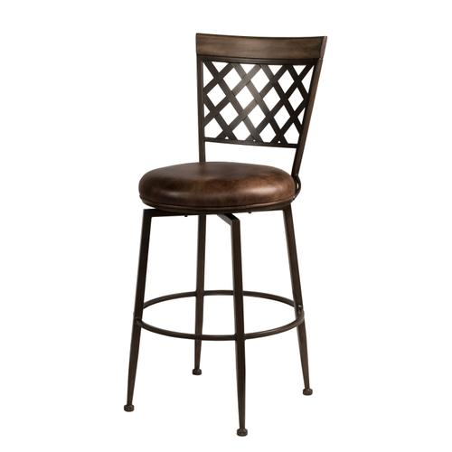 Gallery - Greenfield Commercial Swivel Bar Height Stool, Dark Brown