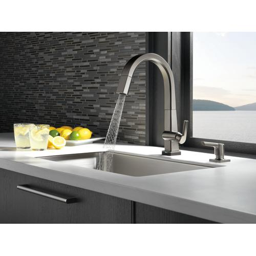 9193tksdst In Black Stainless By Delta Faucet Company In Atlanta Ga Black Stainless Single Handle Pull Down Kitchen Faucet With Touch 2 O Technology