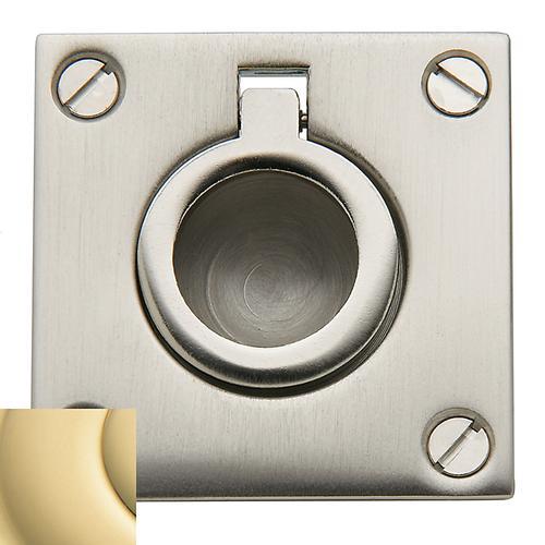 Baldwin - Non-Lacquered Brass Flush Ring Pull