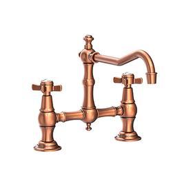 Antique Copper Kitchen Bridge Faucet