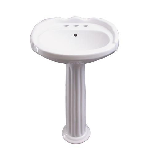 "Silvi 20"" Pedestal Lavatory - 6"" Mini Widespread"