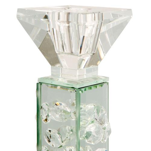 Slender Mirrored Crystal Candle Holder Large (6/pack)