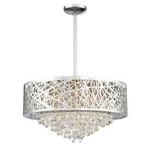 See Details - Pendant/semi-flush Mount, Chrome/crystals, Type Jcd/g9 50wx6