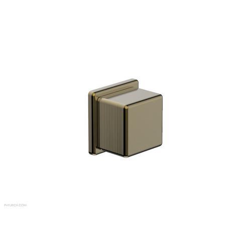 MIX Volume Control/Diverter Trim - Cube Handle 290-38 - Antique Brass