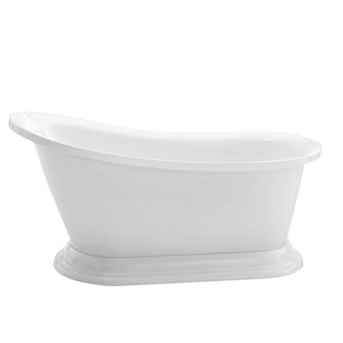 "Lancelot 67"" Acrylic Slipper Tub"