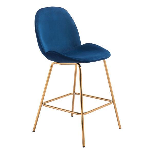 See Details - Siena Counter Chair Dark Blue Velvet