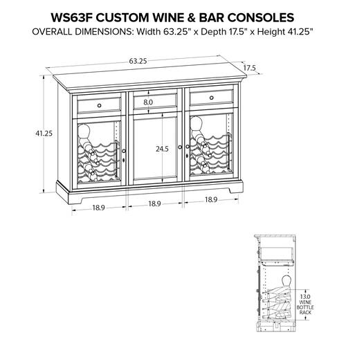 Howard Miller - WS63F Wine & Bar Custom Console