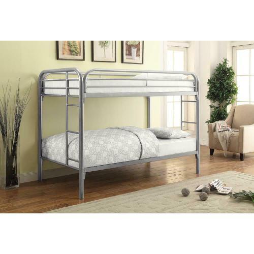 Coaster - Morgan Twin-over-twin Silver Bunk Bed
