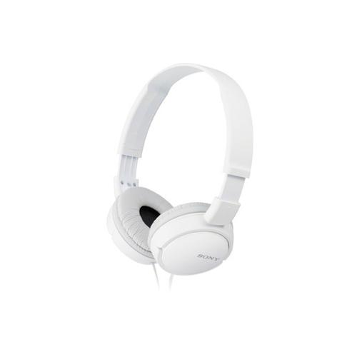 Sony - Wired On-Ear Headphones - White