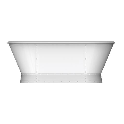 "Corrigan 66"" Acrylic Freestanding Tub - Polished Brass Drain and Overflow"