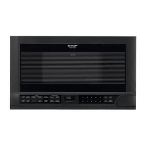 Sharp Appliances1.5 cu. ft. 1100W Black Sharp Over-the-Counter Carousel Microwave Oven