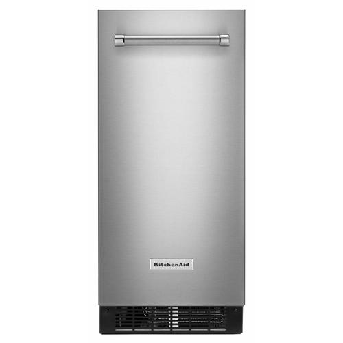 KitchenAid - 15'' Automatic Ice Maker with PrintShield™ Finish - Stainless Steel with PrintShield™ Finish