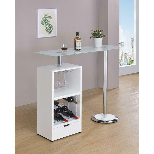 See Details - Contemporary White Bar Table