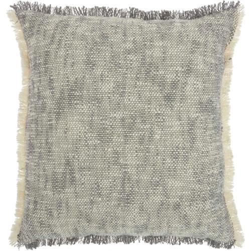 "Life Styles Sh020 Grey 20"" X 20"" Throw Pillow"