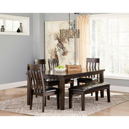 Haddigan - Dark Brown Butterfly EXT table Set