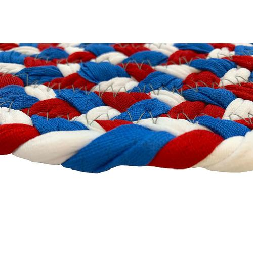 Patriotic Red White Blue Braided Rugs