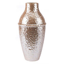 Textured Lg Vase Pearl Yellow