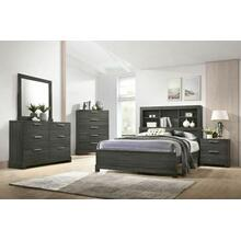 ACME Lantha Queen Bed w/Storage - 22030Q - Gray Oak
