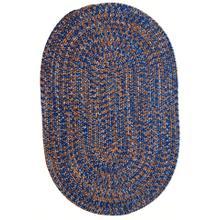 Team Spirit Blue Orange Braided Rugs