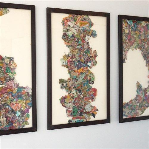 Global Views - Kantha S Abstract Design w/Metal Frame