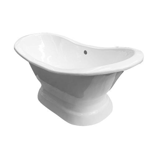 """Product Image - Maren 61"""" Cast Iron Double Slipper Tub on Base"""